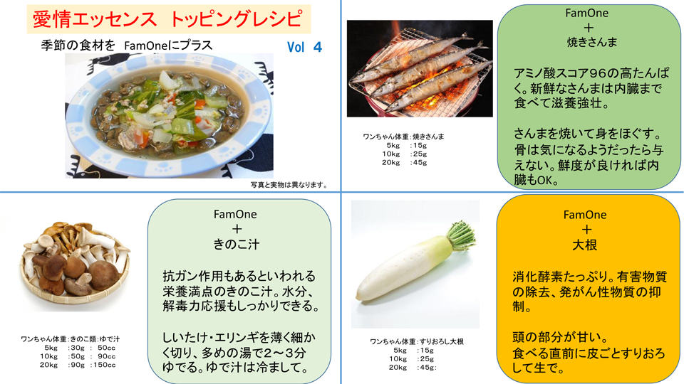 トッピングレシピ Vol 4